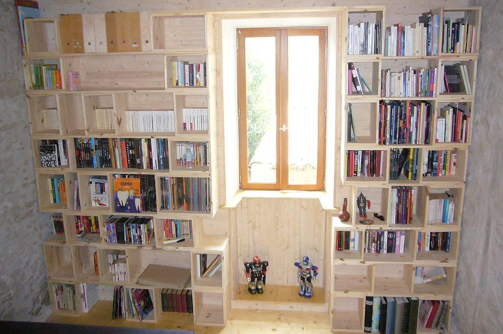 Bricolage poste restante - Plan de bibliotheque en bois ...