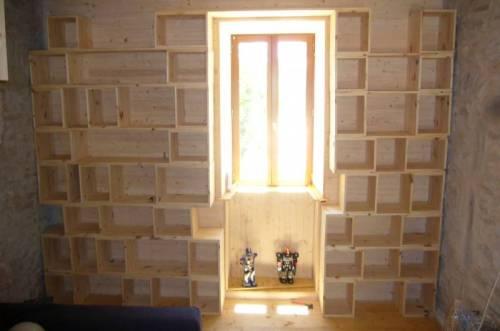 biblioth que sur mesure pour pas cher poste restante. Black Bedroom Furniture Sets. Home Design Ideas